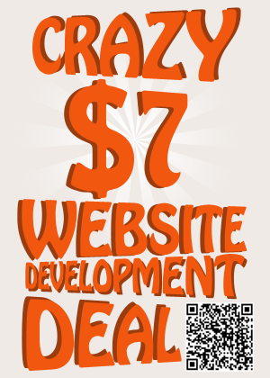 Crazy $7 Deal Website Design Deal